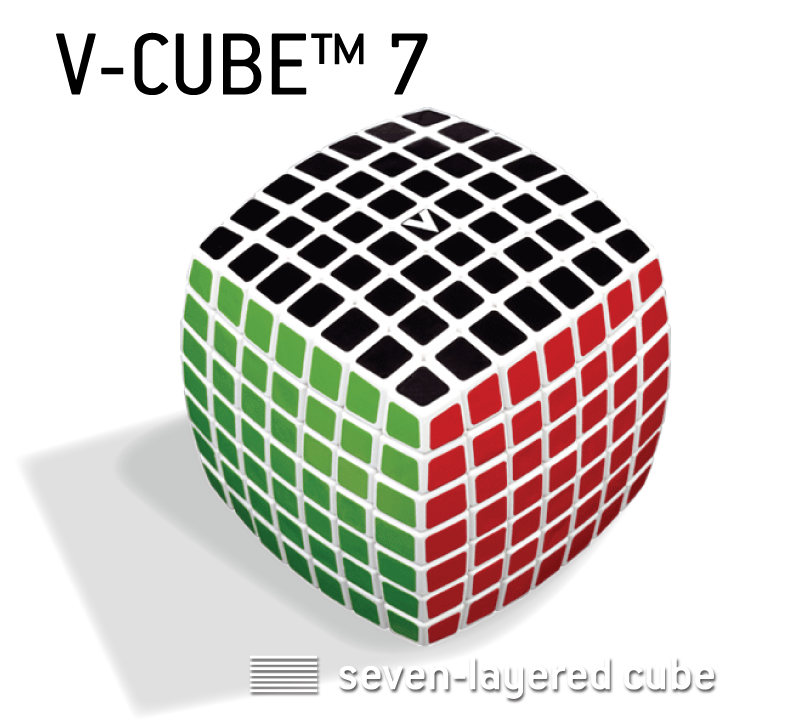 V-CUBE™ 7 is the 7x7x7 cube of the V-CUBE™ - V-Classics  Seven-Layered smooth rotation Cube