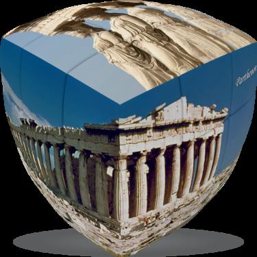 Acropolis - V-CUBE 3 pillow