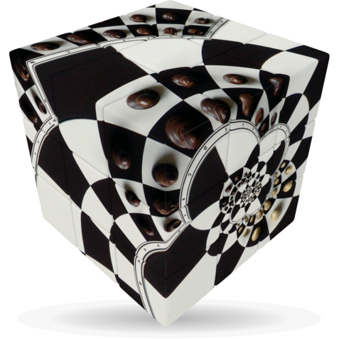 Chessboard Illusion - V-CUBE 3 Flat