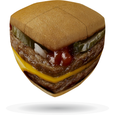 Burger - V-CUBE 2 Pillow