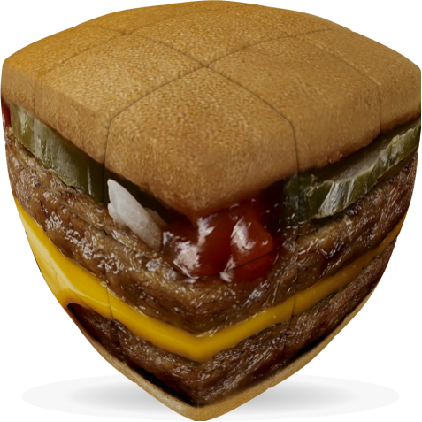 Burger - V-CUBE 3 Pillow