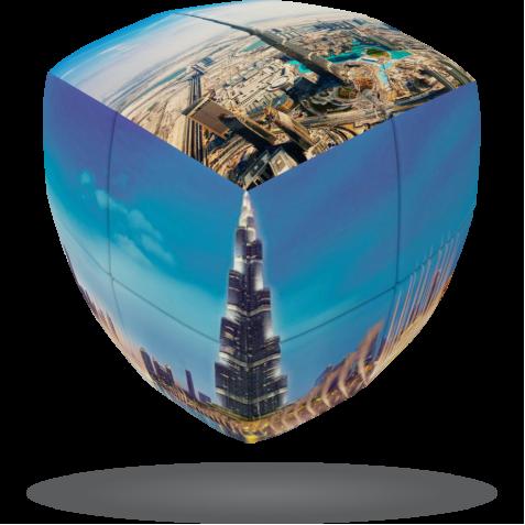 Dubai, Burj Khalifa - V-CUBE 2 pillow