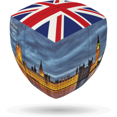 London Flag - V-CUBE 2 pillow