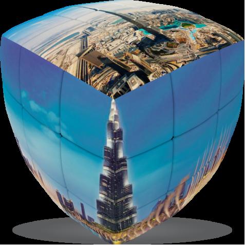 Dubai Burj Khalifa - V-CUBE 3 pillow