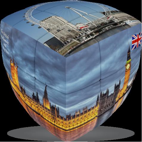 London - V-CUBE 3 pillow