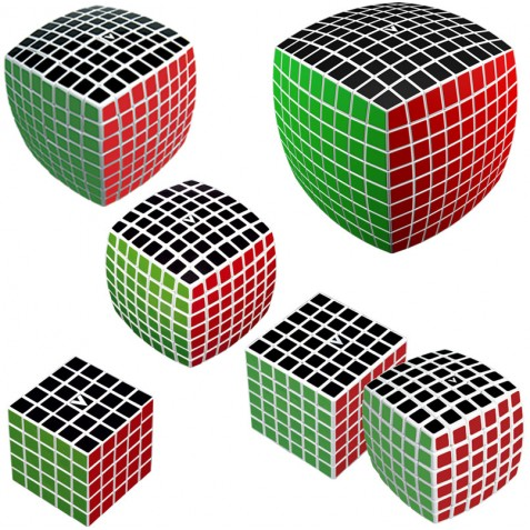 V-CUBE Large Cubes Collection White