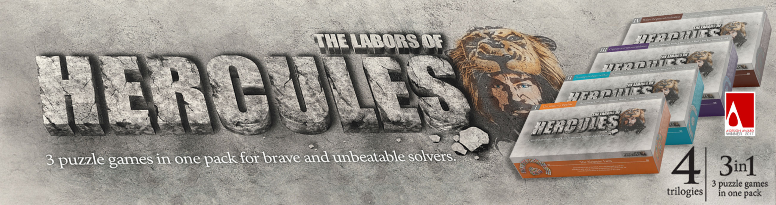 V-Puzzles - The Labors of Hercules an extraordinary Brain Teaser offering thrilling pattern-puzzle solving experiences