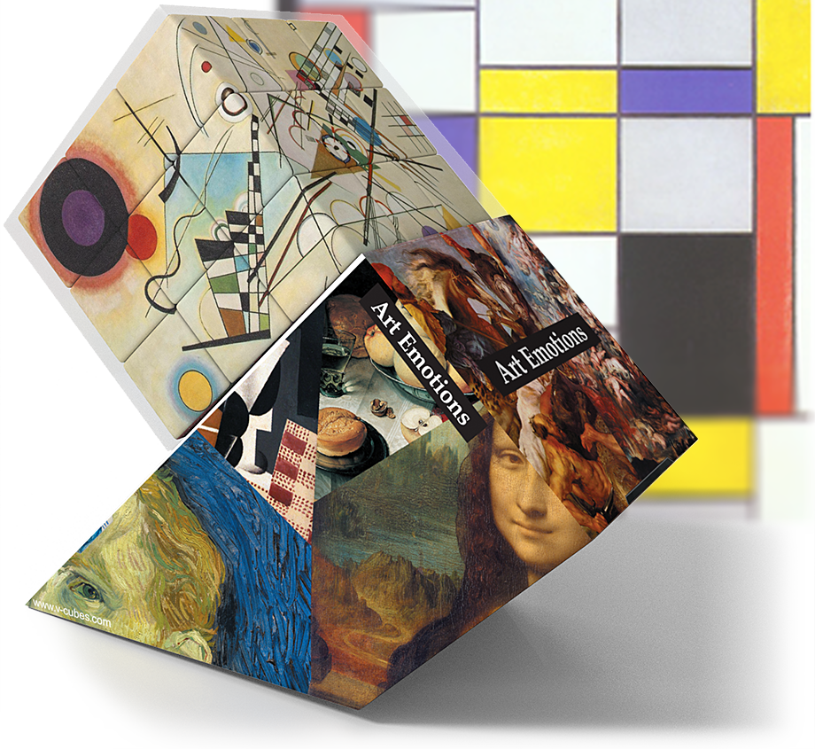V-COLLECTIONS Art Emotions  V-CUBE™  rotation puzzle cube toy