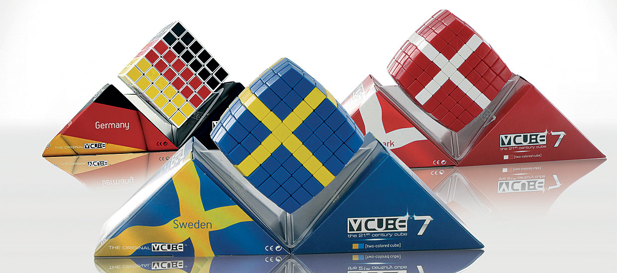 V-CUBE™ Flags  is a 2 and 3 colored, 8 or 7 layered smooth rotation cube - V-Classics 7x7x7 and 8x8x8  Cube
