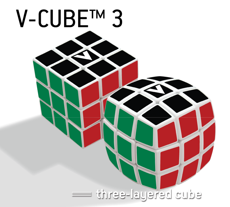 V-CUBE™ 3 The speedcubers cube - V-Classics  Three-Layered 3x3x3 smooth rotation Cube