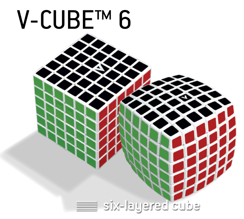 V-CUBE™ 6 is the 6x6x6 member of the V-CUBE™ - V-Classics  Six-Layered 6x6x6 smooth rotation Cube