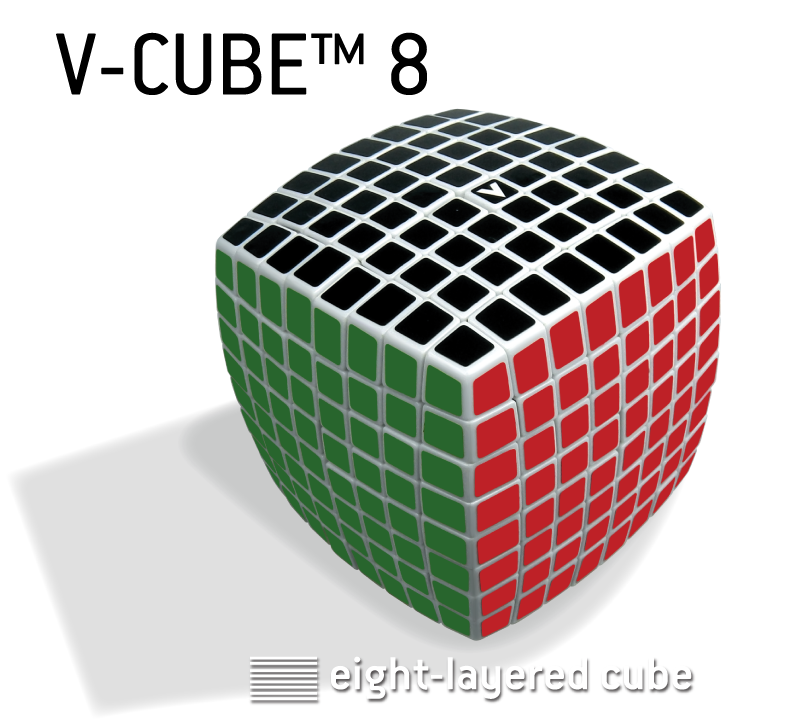 V-CUBE™ 8, the world's most challenging cube. V-Classics 8x8x8 smooth rotation Cube