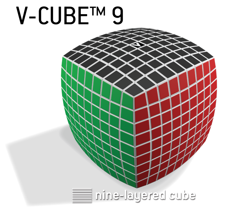 V-CUBE™ 9, the world's most challenging cube. V-Classics 9x9x9 smooth rotation Cube