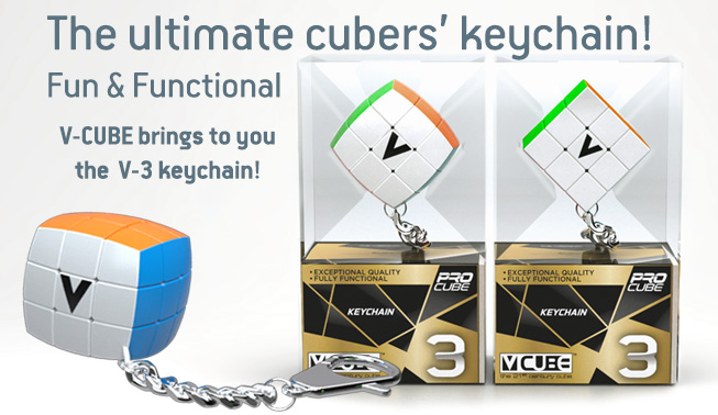 V-CUBE brings to you the  V-3 keychain!