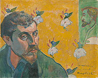 Self-Portrait with Portrait of Émile Bernard (Les misérables)  Paul Gauguin, 1888