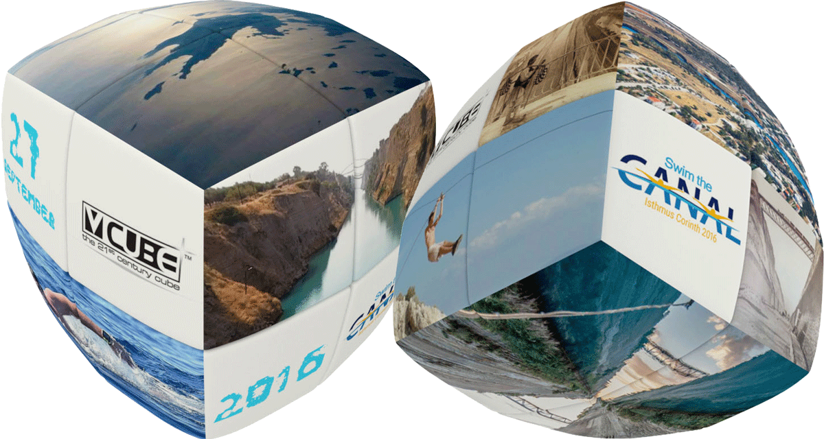 V-Cube's specially designed cubes for 'Swim the Canal' of Corinth 2016