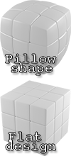 the classic flat design and V-Cube unique pillow